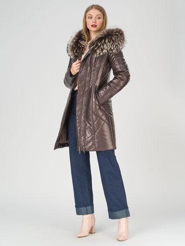 Кожаное пальто эко-кожа 100% П/А, цвет темно-коричневый, арт. 16810808  - цена 16990 руб.  - магазин TOTOGROUP