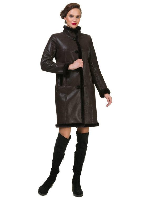 Дубленка дуб. овчина, цвет темно-коричневый, арт. 16900620  - цена 19990 руб.  - магазин TOTOGROUP