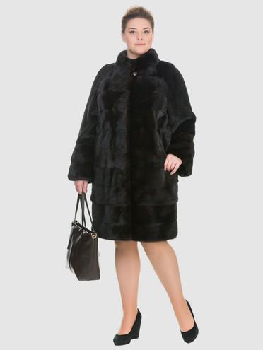 Шуба из норки мех норка, цвет темно-коричневый, арт. 16901039  - цена 89990 руб.  - магазин TOTOGROUP