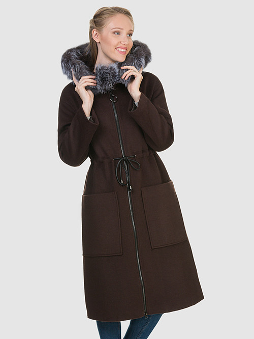 Текстильное пальто артикул 16902693/44 - фото 2