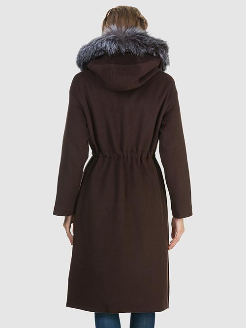 Текстильное пальто артикул 16902693/44 - фото 3