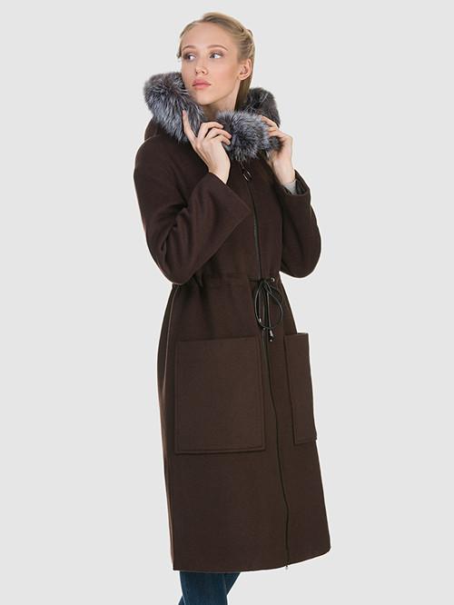 Текстильное пальто артикул 16902693/44 - фото 4