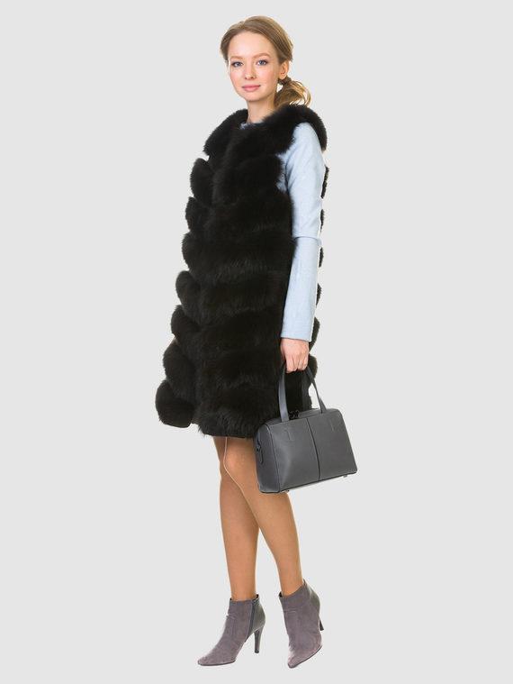 Меховой жилет мех песец, цвет темно-коричневый, арт. 16902719  - цена 14190 руб.  - магазин TOTOGROUP