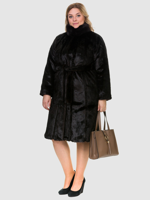 Шуба под бобра Мех под бобра, цвет темно-коричневый, арт. 16902994  - цена 7990 руб.  - магазин TOTOGROUP
