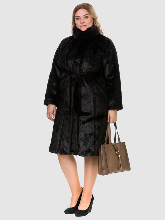 Шуба под бобра мех искусственный под бобра, цвет темно-коричневый, арт. 16902994  - цена 4740 руб.  - магазин TOTOGROUP