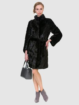 Шуба под бобра Мех под бобра, цвет темно-коричневый, арт. 16902996  - цена 12690 руб.  - магазин TOTOGROUP