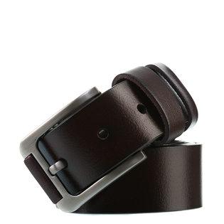 Ремень кожа теленок, цвет темно-коричневый, арт. 16903228  - цена 1490 руб.  - магазин TOTOGROUP