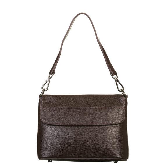 Сумка кожа флоттер, цвет темно-коричневый, арт. 16903351  - цена 2690 руб.  - магазин TOTOGROUP