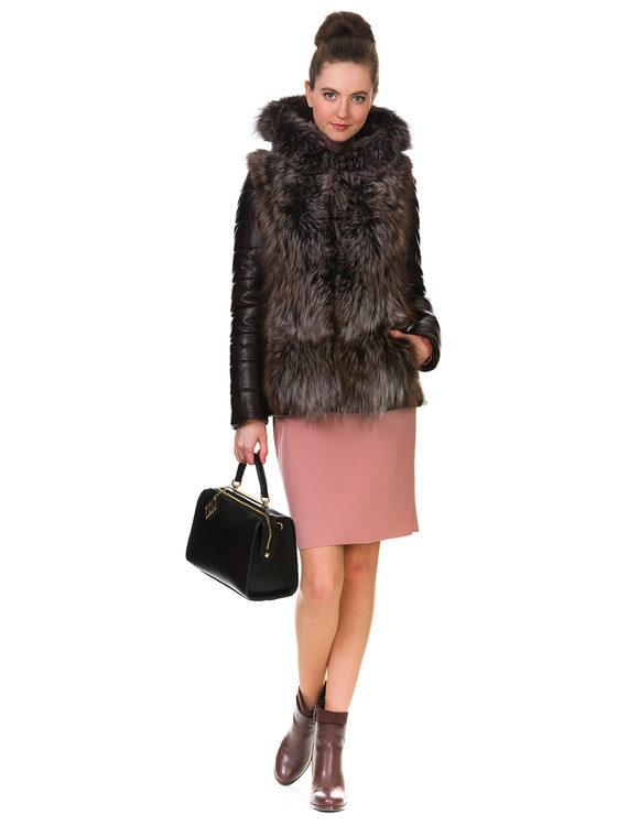 Кожаная куртка эко кожа 100% П/А, цвет темно-коричневый, арт. 16903462  - цена 14990 руб.  - магазин TOTOGROUP