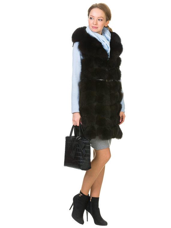 Меховой жилет мех песец, цвет темно-коричневый, арт. 16903523  - цена 16990 руб.  - магазин TOTOGROUP