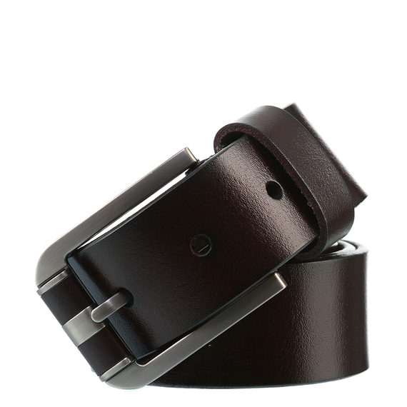 Ремень кожа теленок, цвет темно-коричневый, арт. 16903536  - цена 1190 руб.  - магазин TOTOGROUP