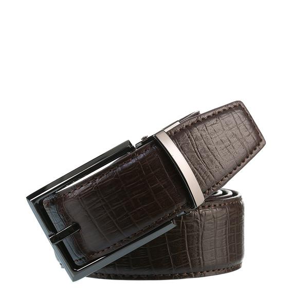Ремень кожа теленок, цвет темно-коричневый, арт. 16903538  - цена 1070 руб.  - магазин TOTOGROUP