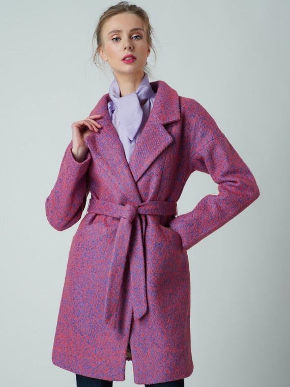 Текстильное пальто 30%шерсть, 70% п\а, цвет фиолетовый, арт. 17005857  - цена 5290 руб.  - магазин TOTOGROUP