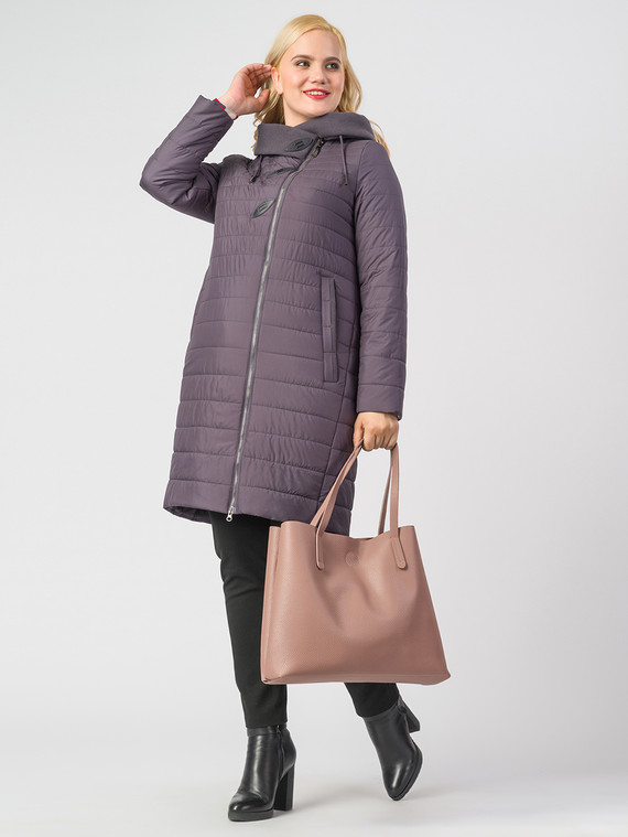 Пуховик текстиль, цвет фиолетовый, арт. 17006538  - цена 6990 руб.  - магазин TOTOGROUP