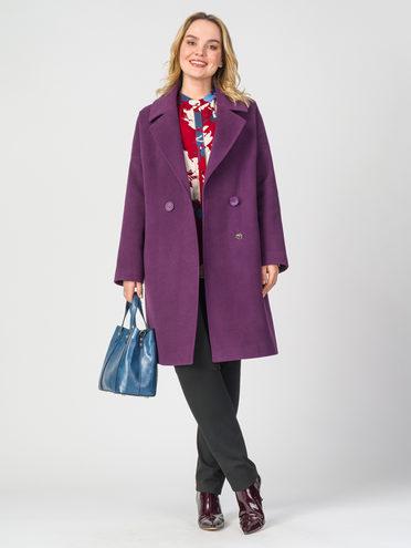 Текстильное пальто 30%шерсть, 70% п.э, цвет фиолетовый, арт. 17107897  - цена 5590 руб.  - магазин TOTOGROUP