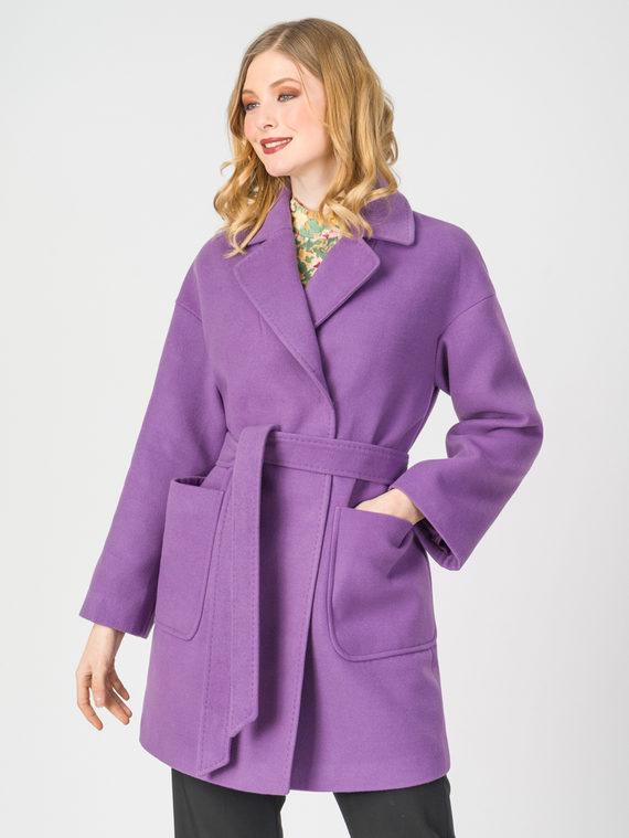 Текстильное пальто 30%шерсть, 70% п.э, цвет фиолетовый, арт. 17107898  - цена 4740 руб.  - магазин TOTOGROUP