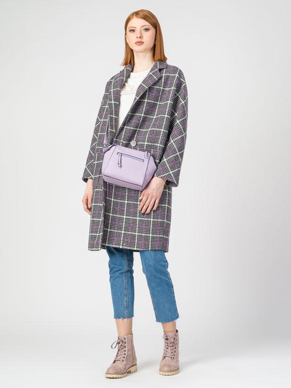 Текстильное пальто 30%шерсть, 70% п.э, цвет фиолетовый, арт. 17107901  - цена 5890 руб.  - магазин TOTOGROUP