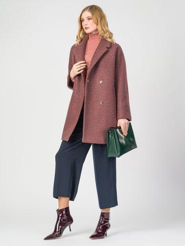 Текстильное пальто 30%шерсть, 70% п.э, цвет коричневый, арт. 17107903  - цена 6290 руб.  - магазин TOTOGROUP