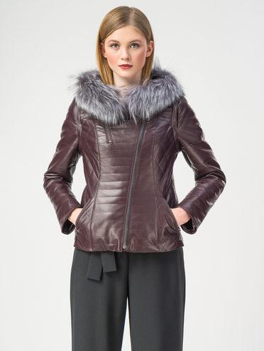 Кожаная куртка эко-кожа 100% П/А, цвет бордо, арт. 17108158  - цена 6630 руб.  - магазин TOTOGROUP