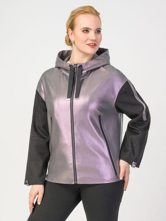 Кожаная куртка эко-кожа 100% П/А, цвет фиолетовый, арт. 17108203  - цена 6290 руб.  - магазин TOTOGROUP