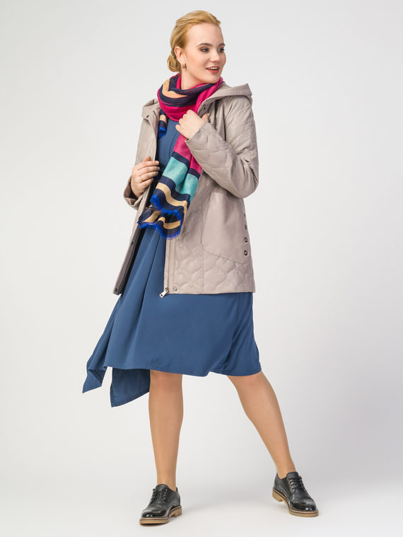 Кожаная куртка эко-кожа 100% П/А, цвет бежевый, арт. 17108300  - цена 5590 руб.  - магазин TOTOGROUP