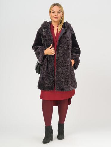 Шуба из мутона мех овчина крашен., цвет фиолетовый, арт. 17108971  - цена 29990 руб.  - магазин TOTOGROUP