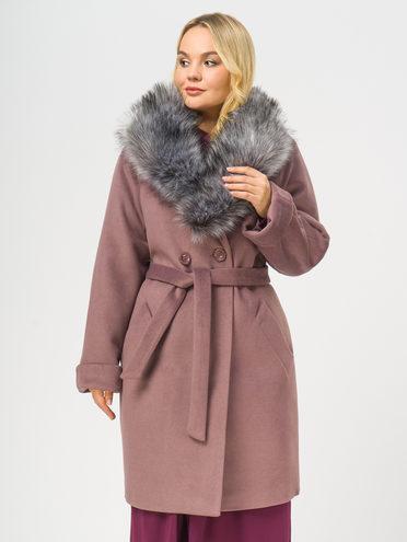 Текстильное пальто 35% шерсть, 65% полиэстер, цвет фиолетовый, арт. 17109100  - цена 4740 руб.  - магазин TOTOGROUP