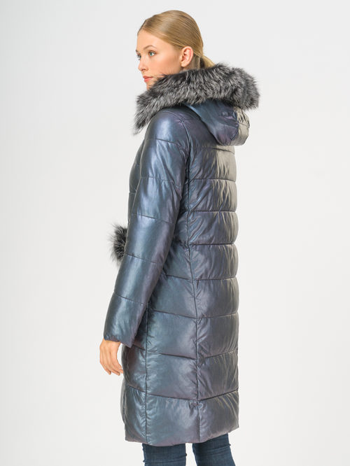 Кожаное пальто артикул 17109240/42 - фото 3