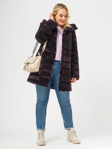 Шуба из нутрии мех нутрия, цвет фиолетовый, арт. 17109658  - цена 19990 руб.  - магазин TOTOGROUP