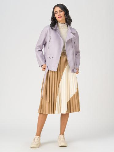 Кожаная куртка эко-кожа 100% П/А, цвет фиолетовый, арт. 17711534  - цена 2990 руб.  - магазин TOTOGROUP