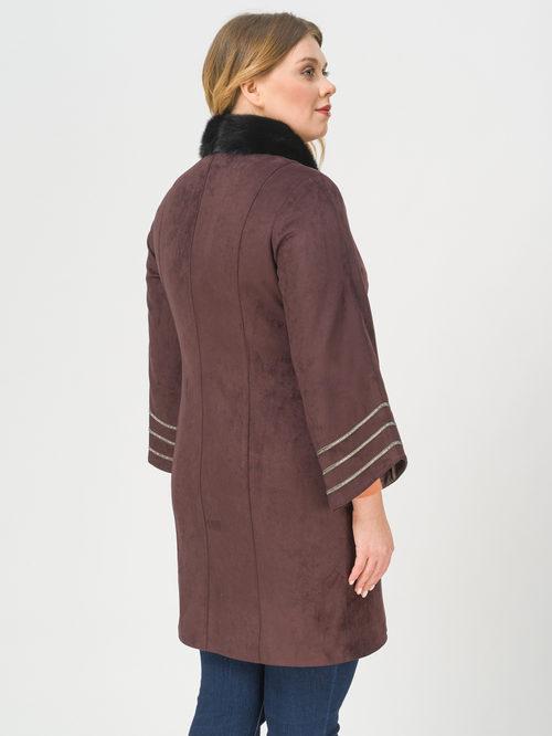 Кожаное пальто артикул 17810026/46 - фото 3