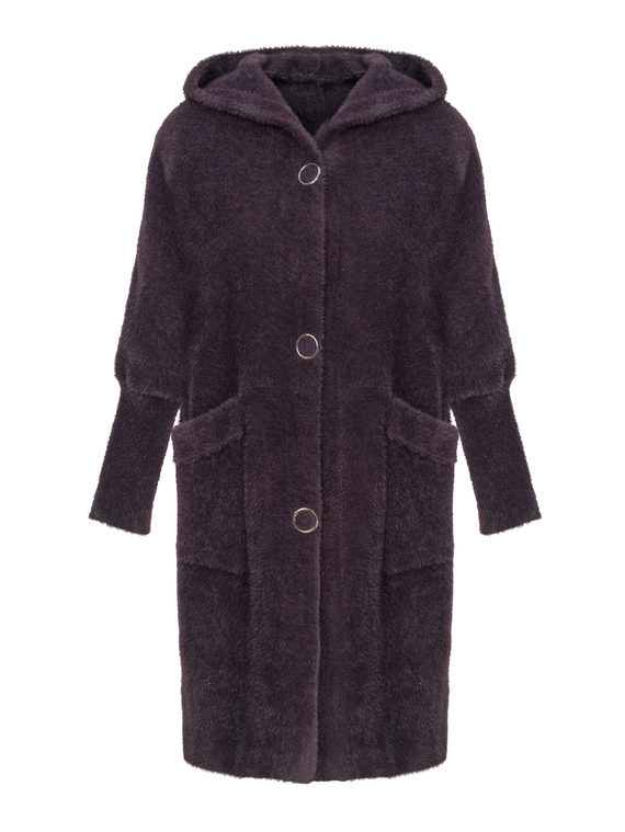 Текстильное пальто , цвет фиолетовый, арт. 17810266  - цена 4490 руб.  - магазин TOTOGROUP