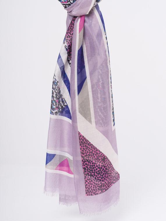 Шарф 50%хлопок,50%вискоза, цвет фиолетовый, арт. 17810299  - цена 940 руб.  - магазин TOTOGROUP