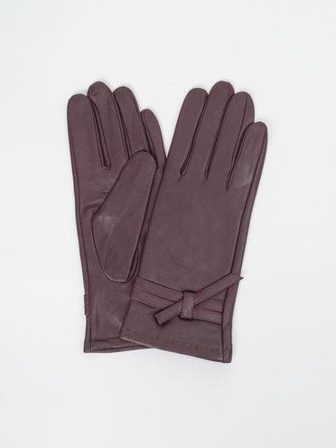 Перчатки кожа, цвет фиолетовый, арт. 17810321  - цена 1490 руб.  - магазин TOTOGROUP