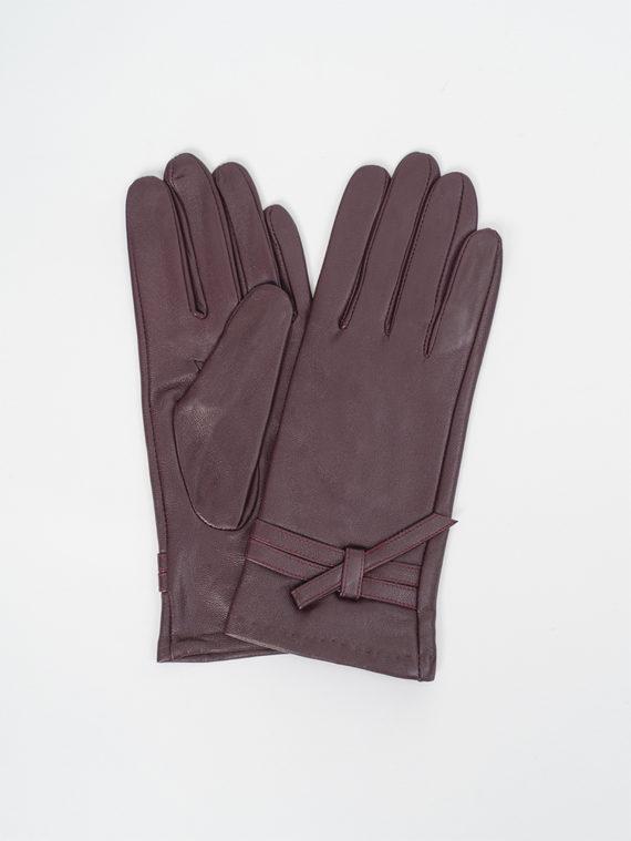 Перчатки кожа, цвет фиолетовый, арт. 17810321  - цена 990 руб.  - магазин TOTOGROUP