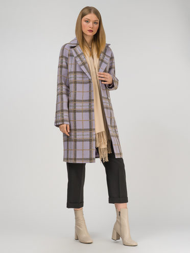 Текстильное пальто 35% шерсть, 65% полиэстер, цвет фиолетовый, арт. 17810665  - цена 9490 руб.  - магазин TOTOGROUP