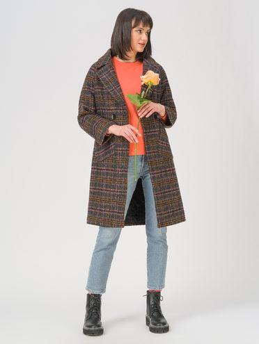 Текстильное пальто 30% шерсть, 70% п.э, цвет фиолетовый, арт. 17810723  - цена 9490 руб.  - магазин TOTOGROUP