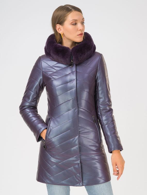 Кожаная куртка эко-кожа 100% П/А, цвет фиолетовый, арт. 17810769  - цена 9990 руб.  - магазин TOTOGROUP