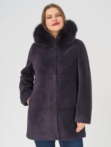 Шуба из эко-меха эко мех шерсть 100%, цвет фиолетовый, арт. 17810886  - цена 14990 руб.  - магазин TOTOGROUP