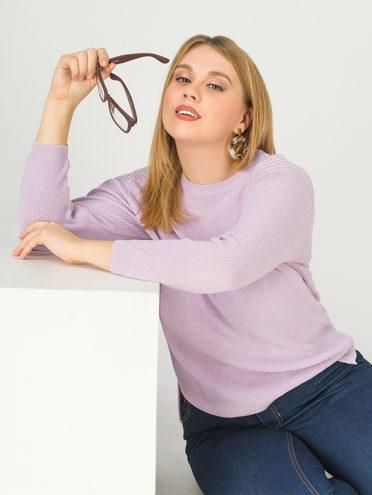 Джемпер 90% акрил , 10% полиэстер, цвет фиолетовый, арт. 17811179  - цена 990 руб.  - магазин TOTOGROUP