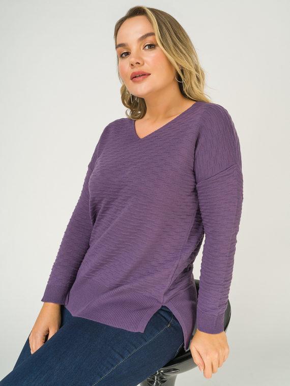Джемпер , цвет фиолетовый, арт. 17811181  - цена 1130 руб.  - магазин TOTOGROUP