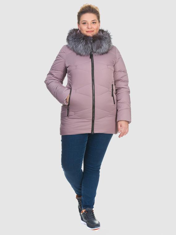 Пуховик текстиль, цвет фиолетовый, арт. 17900733  - цена 6990 руб.  - магазин TOTOGROUP