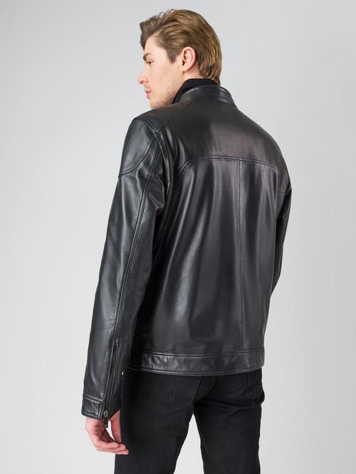 Кожаная куртка артикул 18003408/48 - фото 3