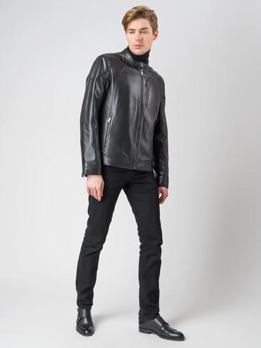 Кожаная куртка кожа , цвет черный, арт. 18003408  - цена 8990 руб.  - магазин TOTOGROUP