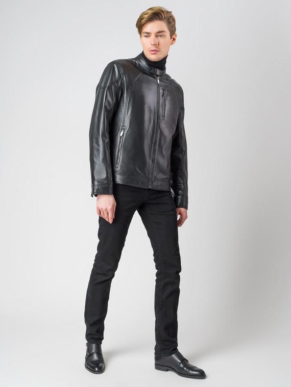 Кожаная куртка кожа , цвет черный, арт. 18003408  - цена 11990 руб.  - магазин TOTOGROUP