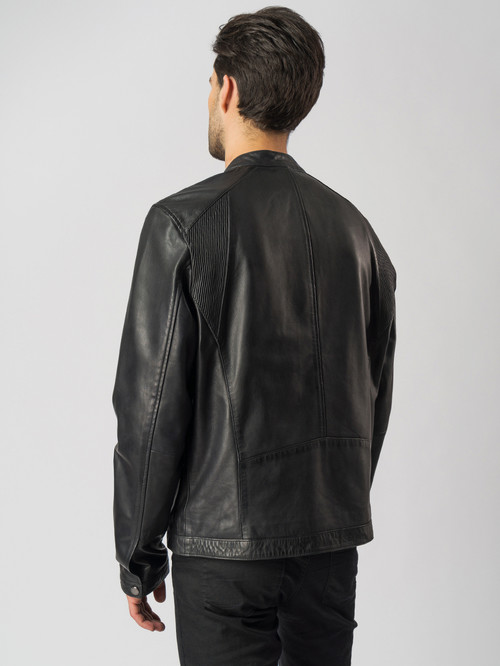Кожаная куртка артикул 18003412/48 - фото 3