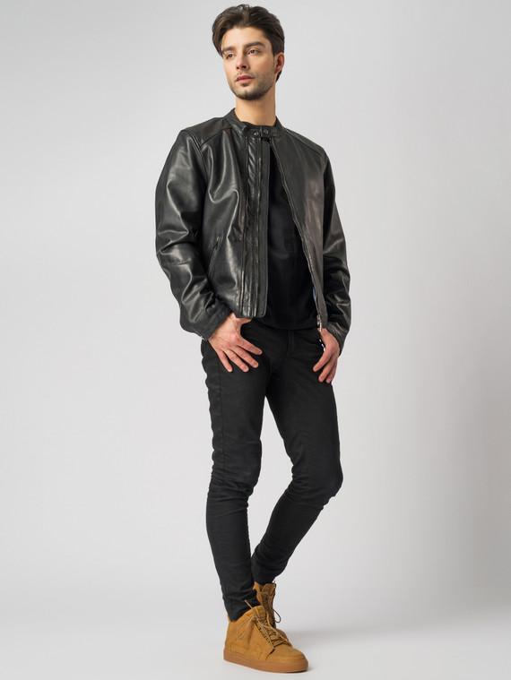 Кожаная куртка кожа , цвет черный, арт. 18003412  - цена 11290 руб.  - магазин TOTOGROUP