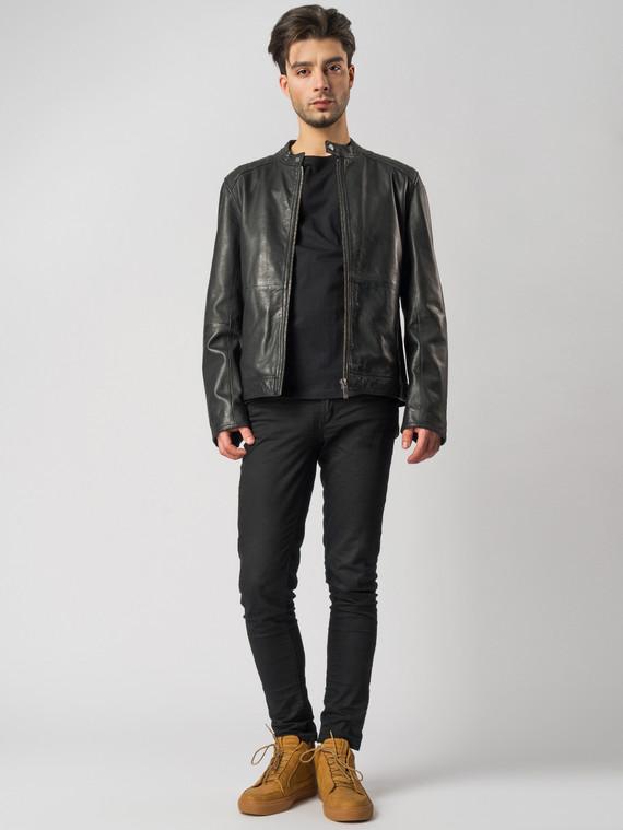 Кожаная куртка кожа , цвет черный, арт. 18003415  - цена 11990 руб.  - магазин TOTOGROUP