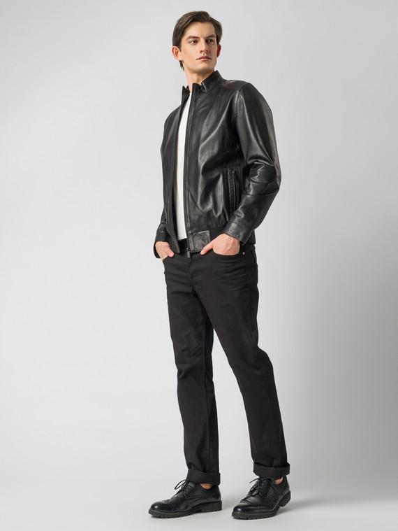 Кожаная куртка кожа , цвет черный, арт. 18003423  - цена 10590 руб.  - магазин TOTOGROUP