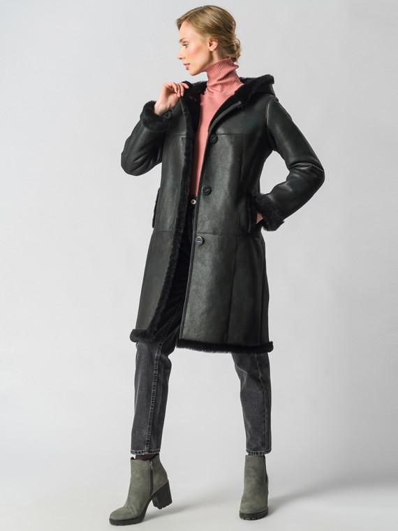 Дубленка дуб. овчина, цвет черный, арт. 18003658  - цена 31990 руб.  - магазин TOTOGROUP